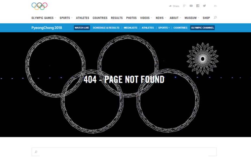 Нераскрывшееся кольцо. Фото Скриншот с официального сайта МОК.