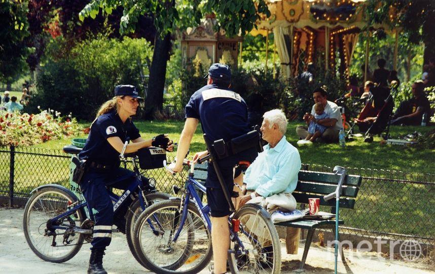 Фотография с полицейскими велосипедистами. Фото Владислав Галенко