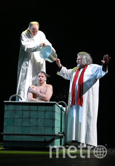 Комедийное трио Ширвиндт – Добронравов – Олешко имеет все шансы войти в историю театра. Фото Елены Мартынюк, предоставлены пресс-службой Театра сатиры
