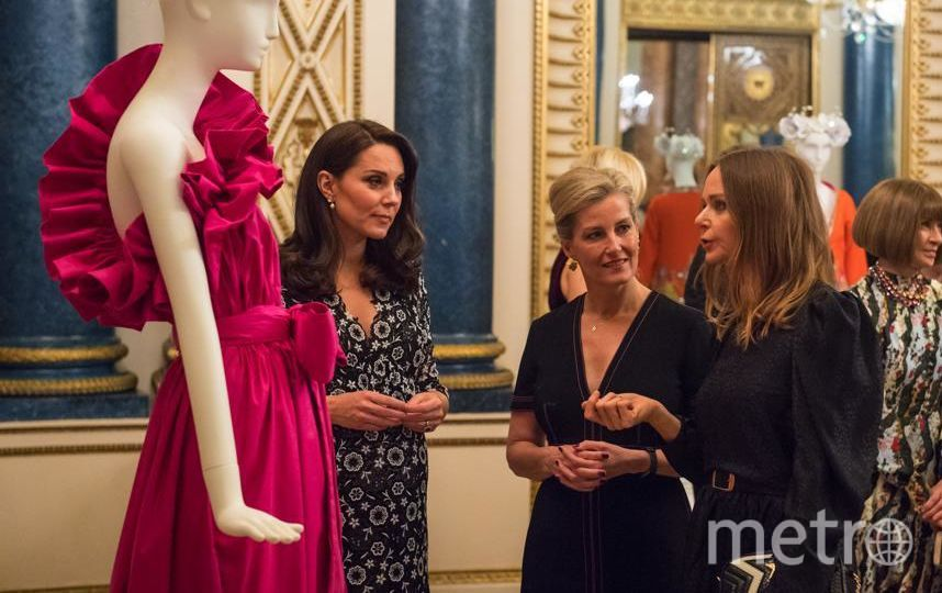 Кейт Миддлтон, Софи и Стелла Маккартни на модном приеме в Букингемском дворце. Фото Getty