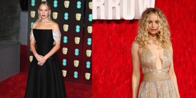 Два образа, два платья Дженнифер Лоуренс.
