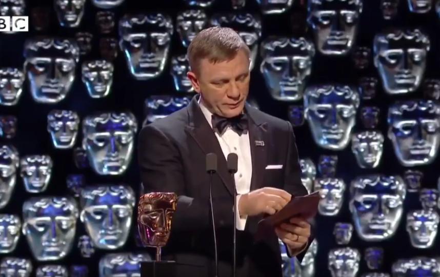 Дэниел Крэйг на BAFTA. Фото Скриншот Youtube