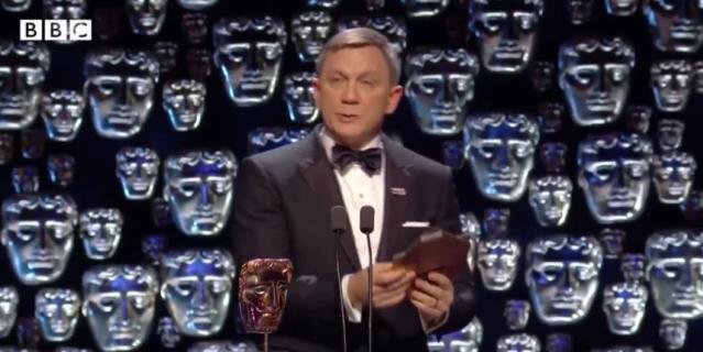 Дэниел Крэйг на BAFTA.