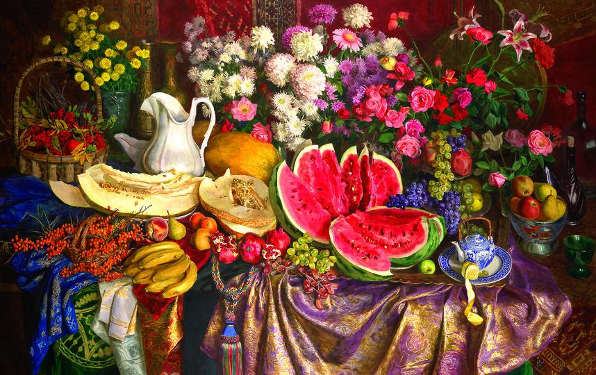 """Натюрморт """"Цветы и фрукты"""" 1995 года тоже будет представлен на выставке. Фото Предоставлено организаторами"""