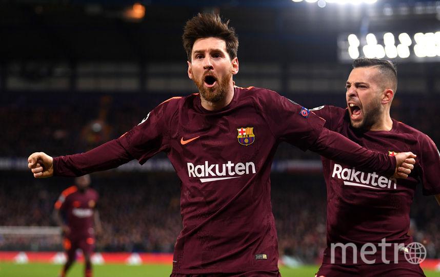 """Месси празднует свой первый гол в ворота """"Челси"""". Фото Getty"""