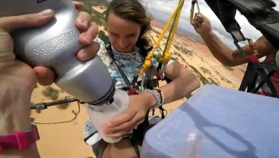 Масленица в небе. Фото Скриншот с видео Александры Должанской