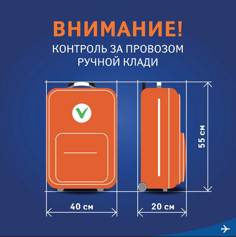 Нормы для провоза багажа в ручной клади. Фото vk.com/aeroflot