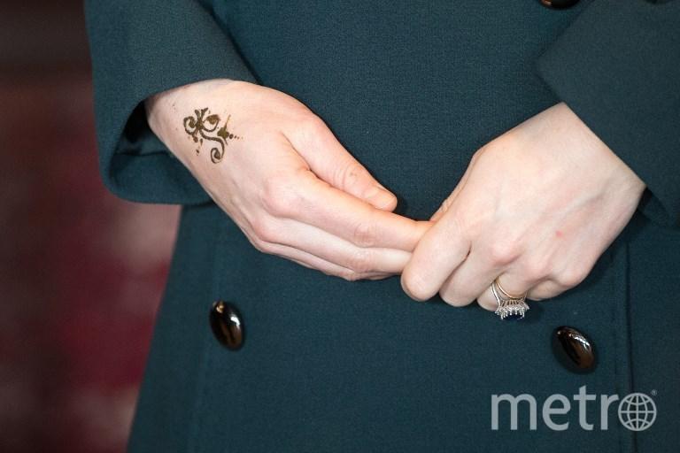 Рисунок хной на руке жены принца Уильяма. Фото AFP