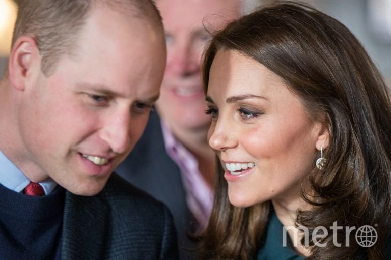 Герцогиня Кембриджская Кэтрин и её муж принц Уильям. Фото AFP