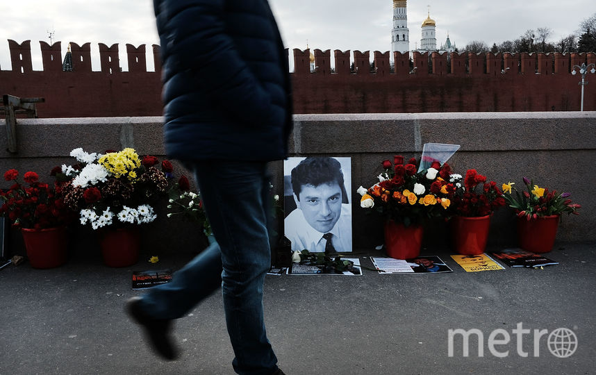 Мемориал Бориса Немцова на Большом Москворецком мосту. Фото Getty