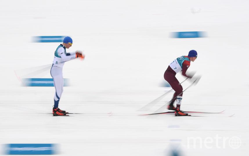 Лыжник Александр Большунов до последнего боролся с финном Ийво Нисканеном за золото. Фото AFP