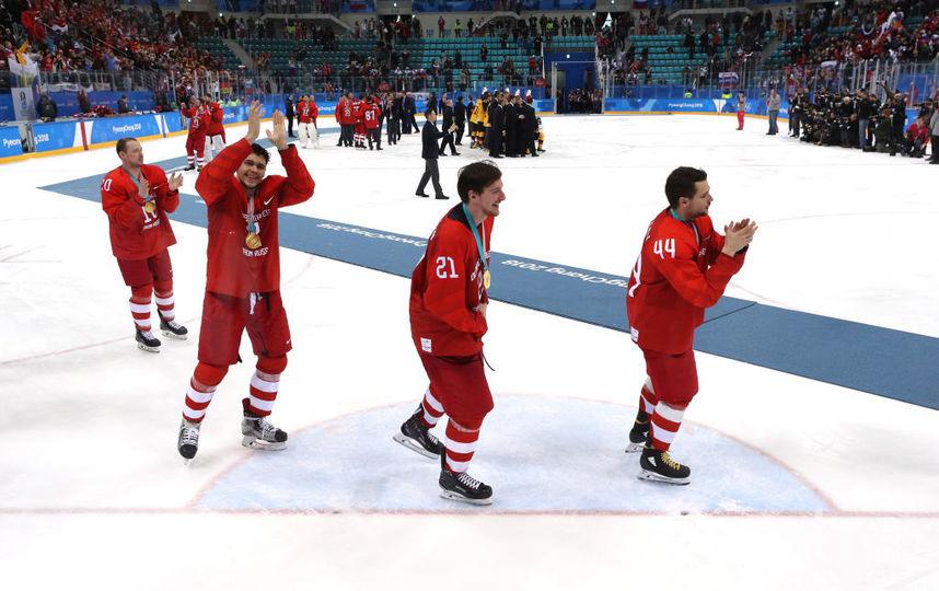Сборная России по хоккею переиграла команду Германии - встреча завершилась со счетом 4:3 в пользу соотечественников. Фото Getty