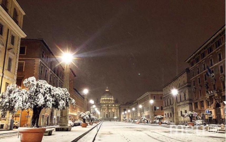 Рим завалило снегом из Сибири. Фото https://www.instagram.com/p/BfpdVk0BQWc/?taken-at=31499759