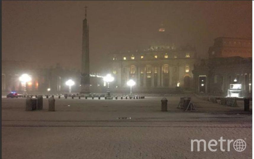 Рим завалило снегом из Сибири. Фото Instagram