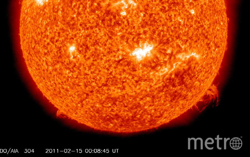 Вспышки на Солнце. Фото Getty