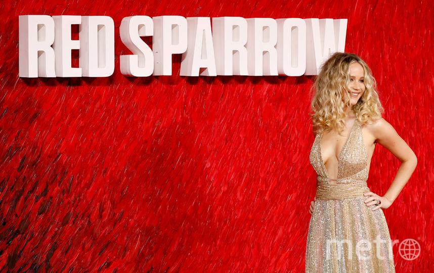 Дженнифер Лоуренс на премьере Красного воробья в Лондоне 20 февраля. Фото Getty