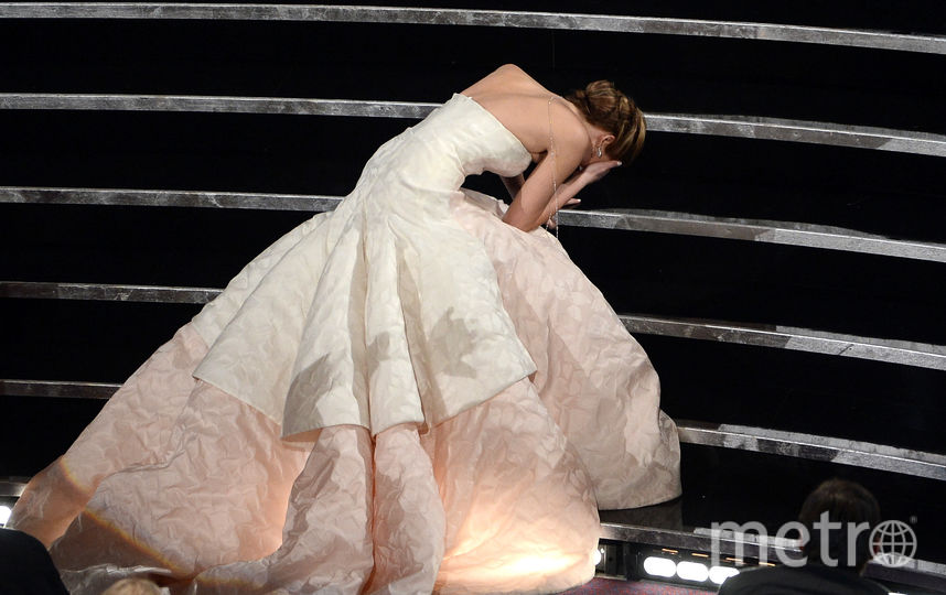"Дженнифер Лоуренс в 2013 году - реакция на победу в номинации ""Лучшая актриса"". Фото Getty"