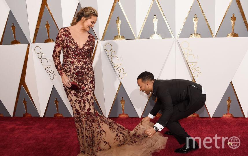 """Знаменитые парочки """"Оскара"""". Крисси Тайген и Джон Легенд. 2016 год. Фото Getty"""