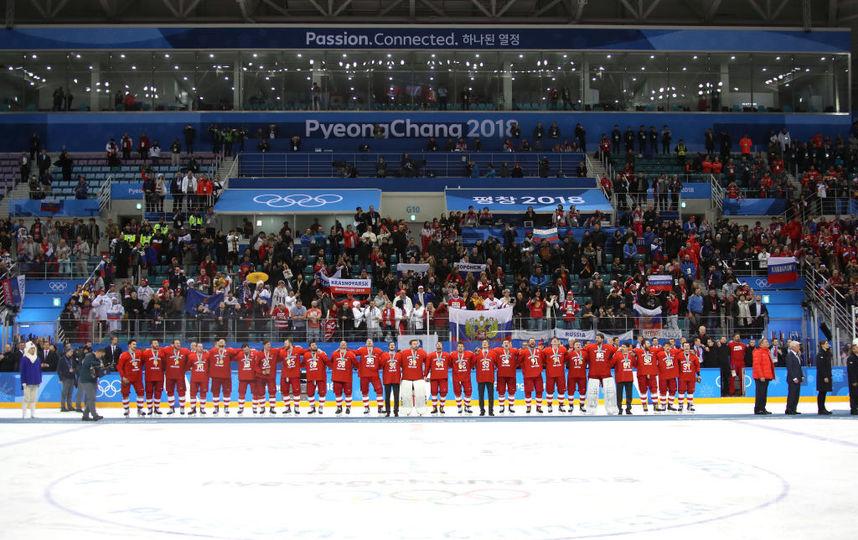 Сборная России по хоккею на Олимпиаде в Пхенчхане (золото). Фото Getty