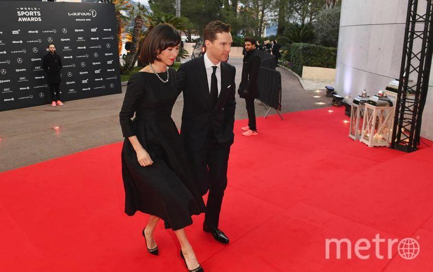 Laureus World Sports Awards-2018. Бенедикт Камбербэтч приехал с женой. Он был ведущим премии. Фото Getty