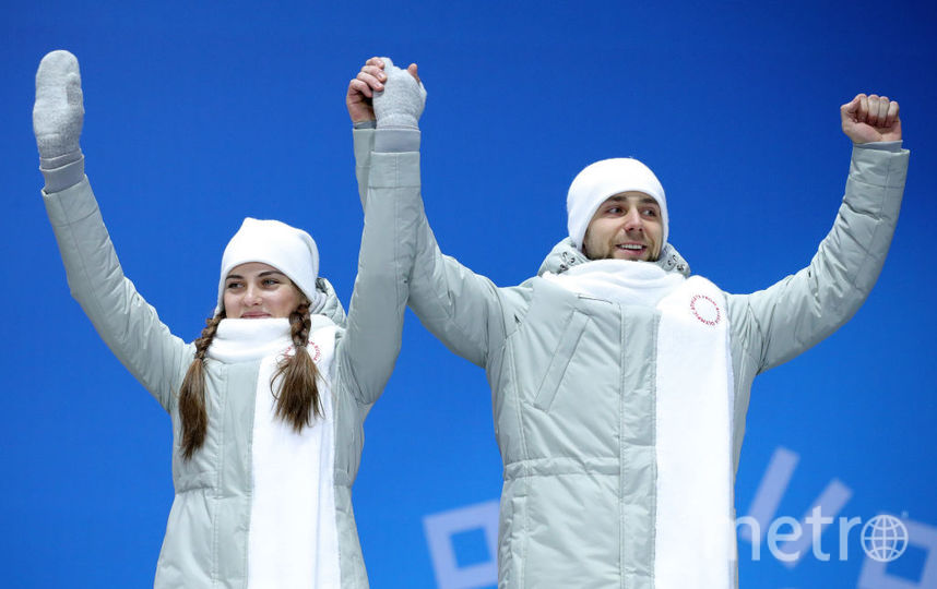 Крушельницкий и Брызгалова на Олимпиаде в Южной Корее. Фото Getty