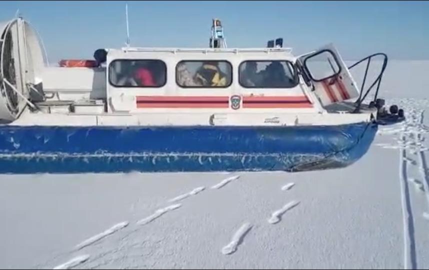 Работники МЧС спасли 16 рыбаков сольда вФинском заливе