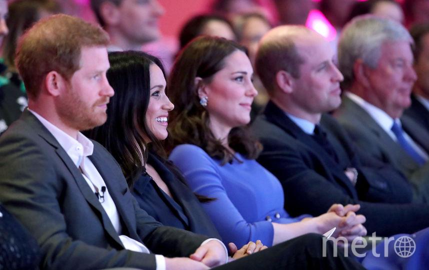Принц Гарри, Меган Маркл, Кейт Миддлтон, принц Уильям. Фото Getty