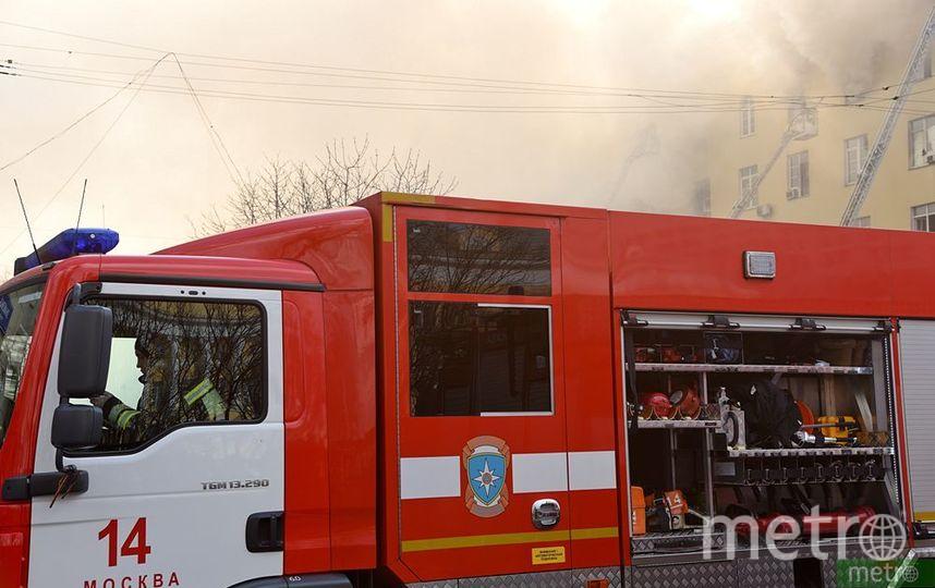 Пожар произошёл в подмосковном Раменском. Фото Василий Кузьмичёнок