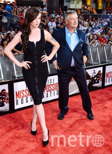 Американская модель Айрленд с отцом Алеком Болдуином. Фото Getty