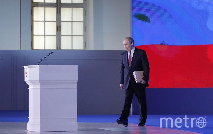 Выступление продлилось 1 час 58 минут. Таким образом Путин побил временной рекорд, поставленный Дмитрием Медведевым в 2009 году, — 1 час 39 минут. Фото AFP