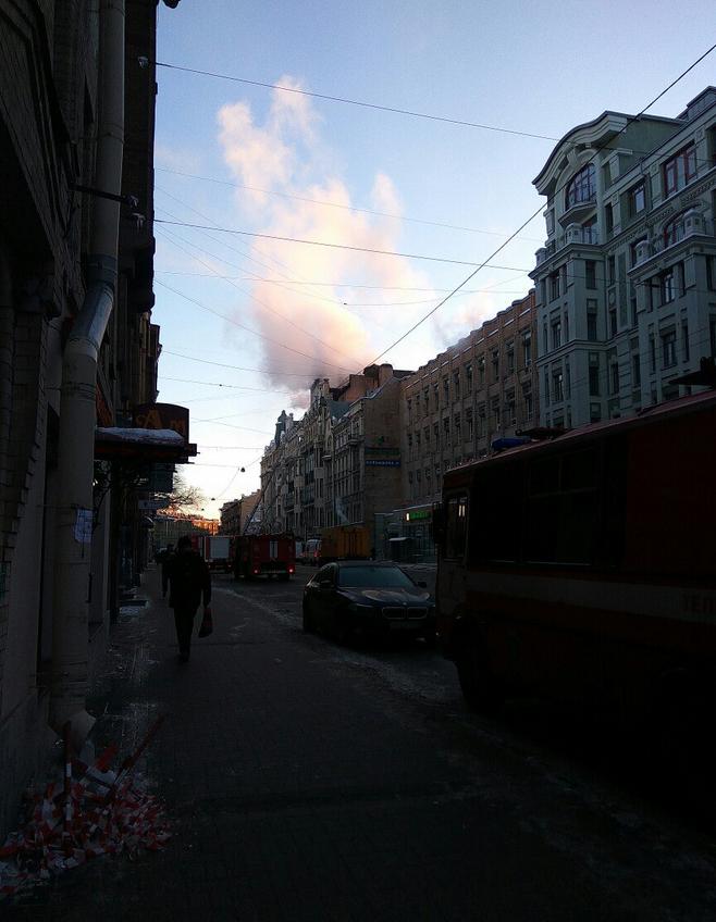 Фото пожара на Куйбышева появились в Сети. Фото vk.com