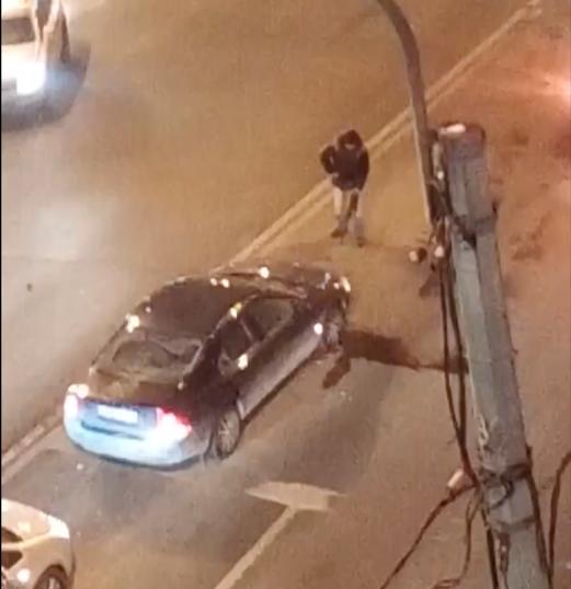 Петербуржец, расстрелявший иномарку у Володарского моста, арестован в больнице. Фото Мегаполис