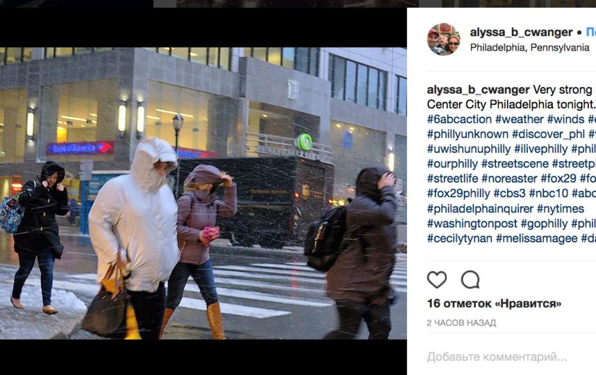Шторм в США: погибли пятеро, миллионы остались без света. Фото скриншот https://www.instagram.com/alyssa_b_cwanger/