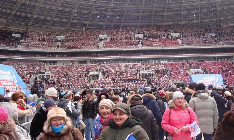 Митинг в Лужниках собрал 130 тысяч человек. Фото Скриншот https://www.instagram.com/katrin_sysoeva5/