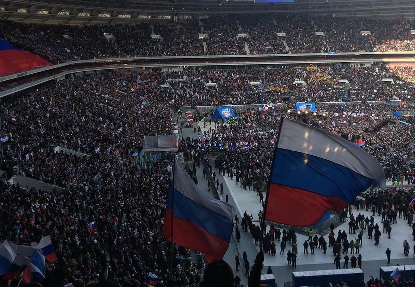 Митинг в Лужниках собрал 130 тысяч человек. Фото Скриншот https://www.instagram.com/larisa_gabdullina/