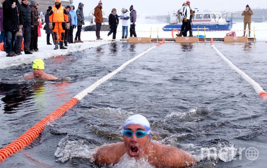 В Петербурге прошли соревнования по зимнему плаванию. Фото все - Алена Бобрович.