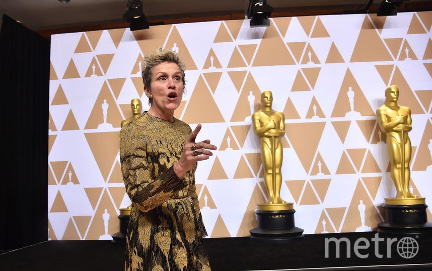 Фрэнсис МакДорманд на вручении премии Оскар. Фото Getty