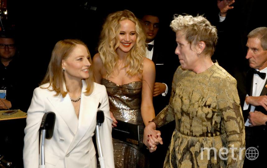Джоди Фостер, Дженнифер Лоурен и Фрэнсис МакДорманд на вручении премии Оскар. Фото Getty