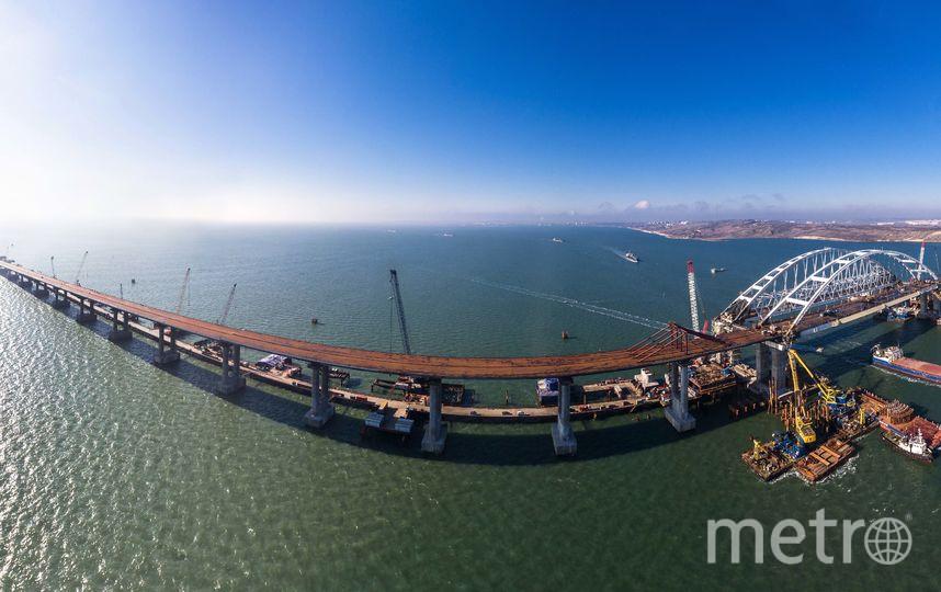 105 метров – максимальная глубина погружения свай Крымского моста. Фото most.life