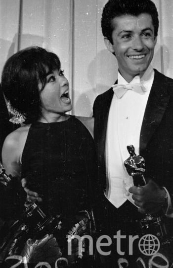 Рита Морено и американский актер Джордж Чакирис на премии Оскар в 1962-м году. Фото Getty