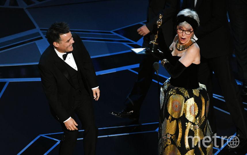 Рита Морено и режиссер Себастьян Лелио на премии Оскар. Фото Getty