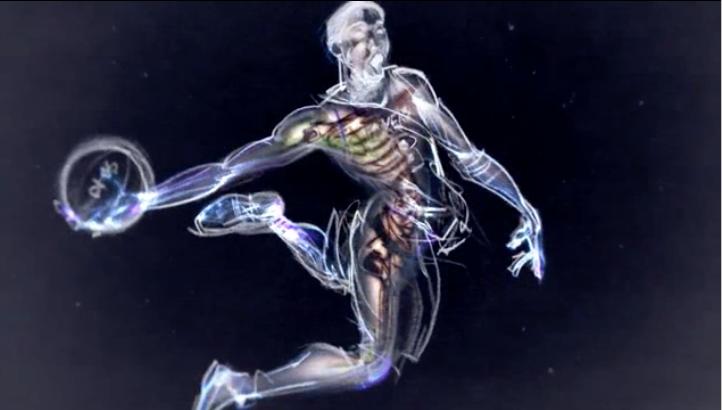 Но пришло время заканчивать – так в мульфильме изображено тело спортсмена. Фото Кадр из мульфильма
