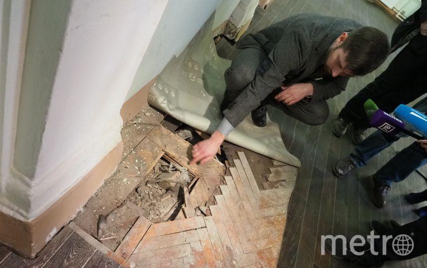 Пол в Обеденном зале. Фото Святослав Акимов.