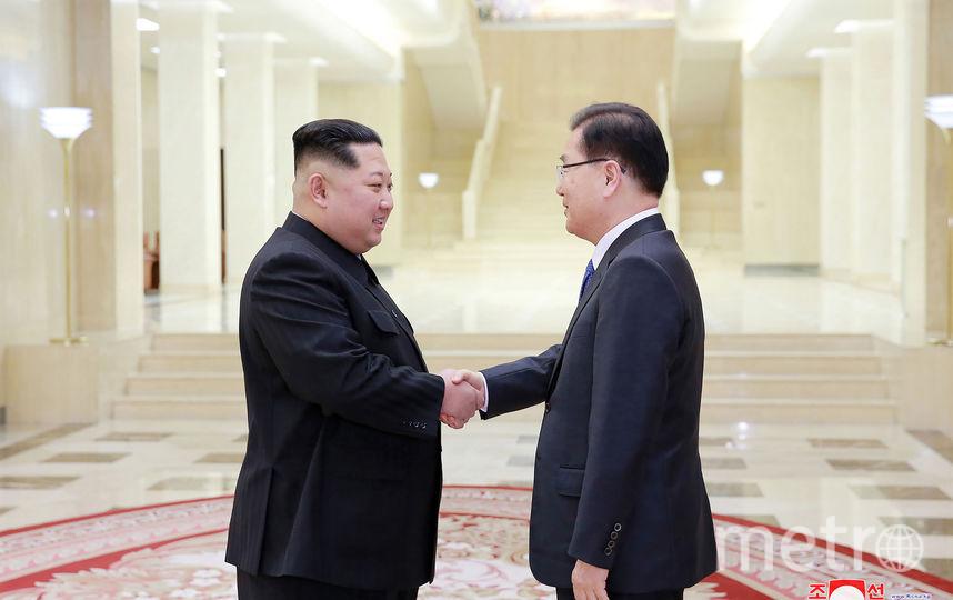 Ким Чен Ын впервые принял делегацию из Южной Кореи. Фото AFP