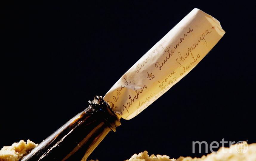 Письмо в бутылке. Фото Getty