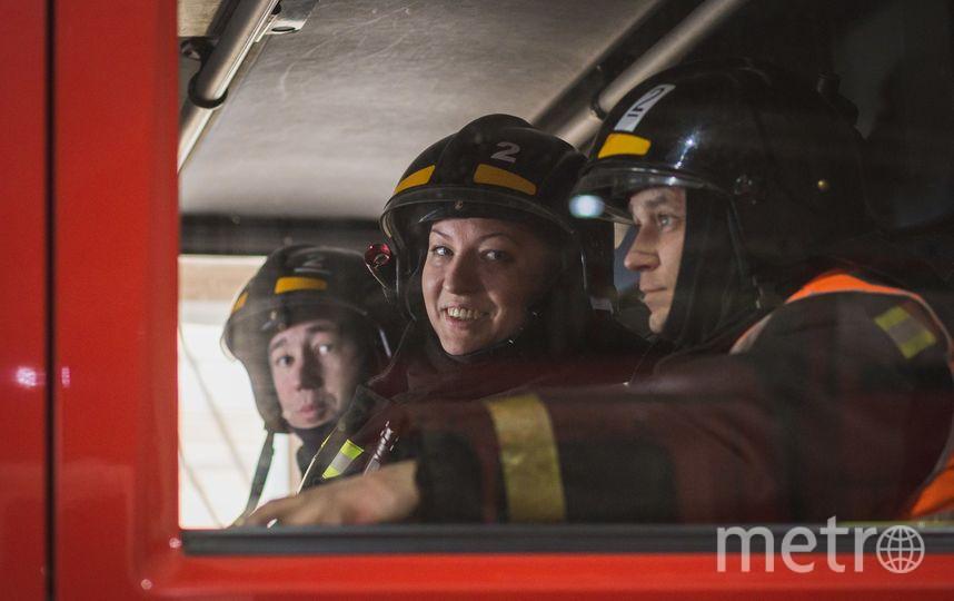 Анна Шпенова – единственная женщина-пожарный в Петербурге. Фото пресс-службы МЧС.
