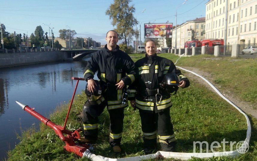 Анна Шпенова – единственная женщина-пожарный в Петербурге. Фото из личного архива