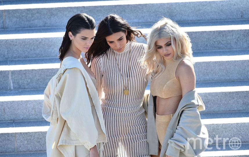 Кендалл Дженнер, Ким Кардашьян и Кайли Дженнер. Фото Getty