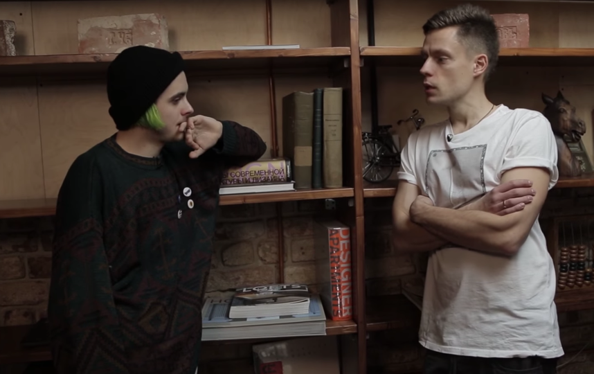 Кирилл Бледный и Юрий Дудь. Фото Скриншот Youtube