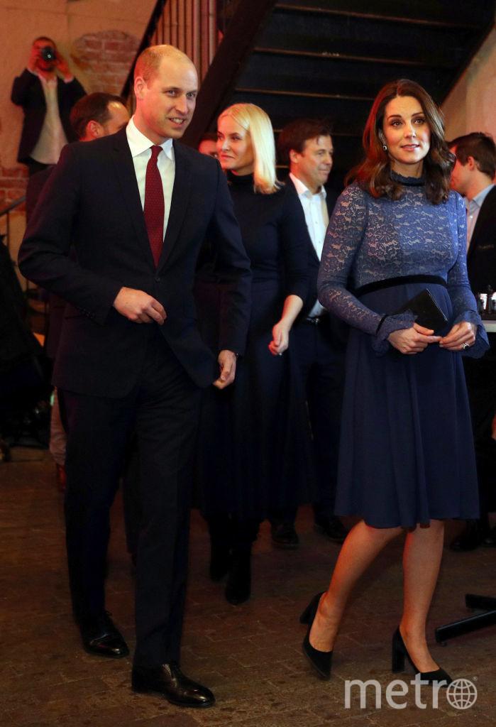 Кейт Миддлтон и принц Уильям 1 февраля во время визита в Норвегию. Фото Getty